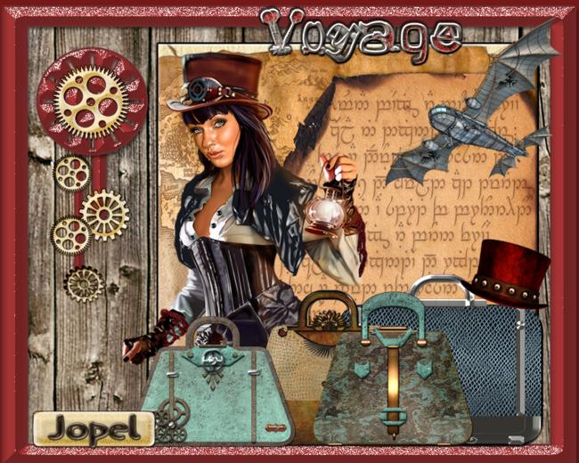 Voyage steampunk par Jopel