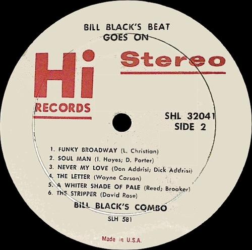 "Bill Black's Combo : Album "" Bill Black's Beat Goes On "" Hi Records SHL 32041 [ US ]"