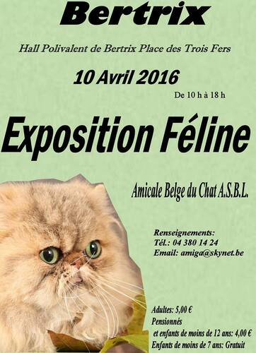 Expositions d'Avril :
