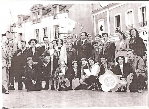 Les Galvachers du Morvan retour de Moscou en 1954