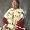 Calls Her Name. Sioux. 1898. (Colorized) photo by F.A. Rinehart. Source - Boston Public Library.