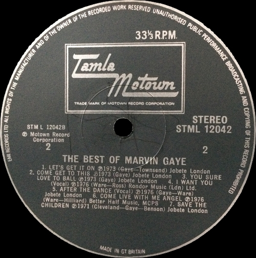 "Marvin Gaye : Album "" Marvin Gaye's Greatest Hits "" Tamla Records T6-348S1 [ US ]"