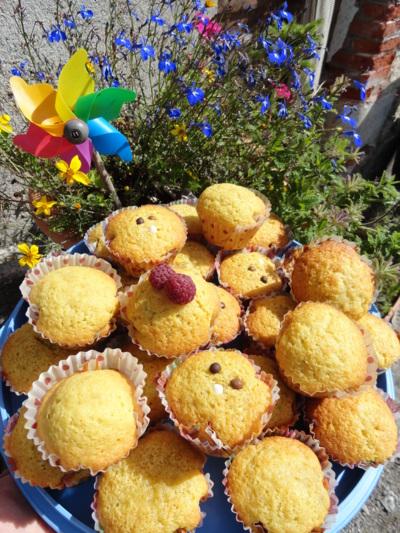 Blog de melimelodesptitsblanpain : Méli Mélo des p'tits Blanpain!, Muffins aux framboises et muffins au chocolat! ;o)