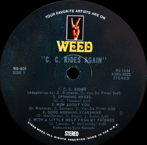"Chris Clark : Album "" C.C. Rides Again "" Weed Records WS-801 [ US ]"