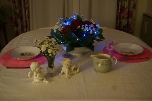 Table romantique pour le réveillon