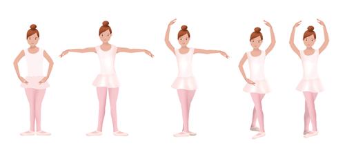 les 5 positions de la danse classique danse. Black Bedroom Furniture Sets. Home Design Ideas