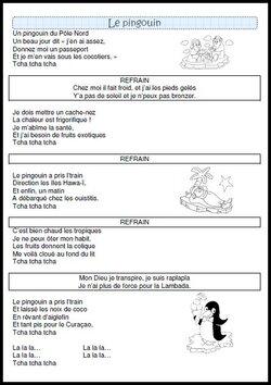 MAJ: la chanson: un pingouin