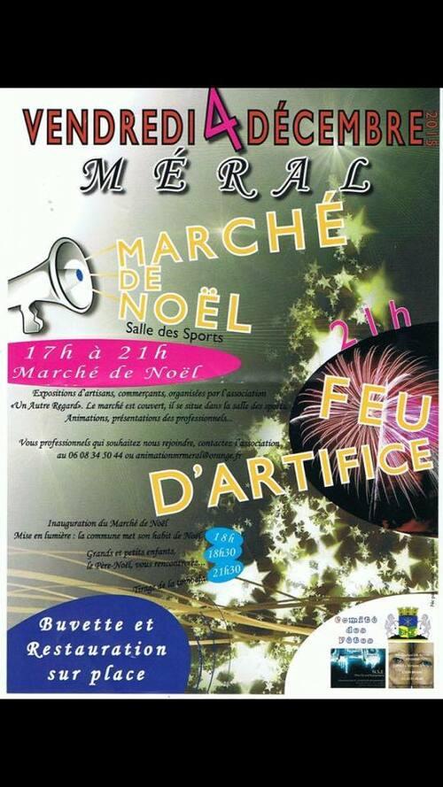 Marché de Noel Méral (53) vendredi 4 décembre