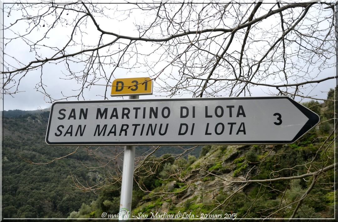 Direction San Martinu di Lota