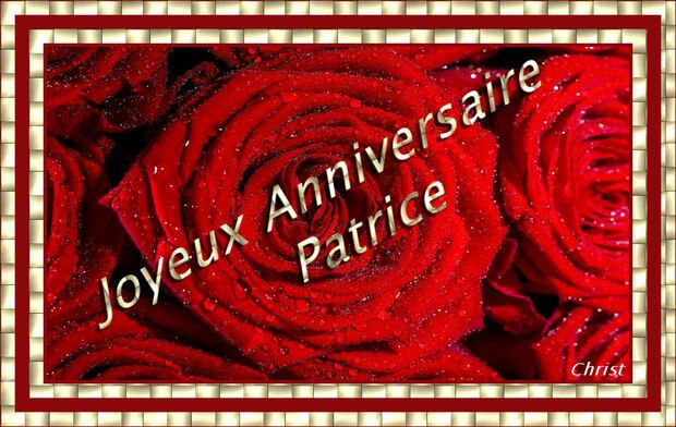 Bon Anniversaire Patrice.