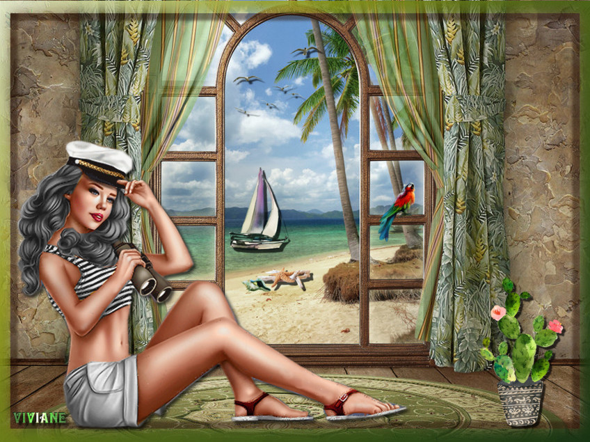 Vue sur mer et belle nature