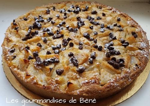 Tarte poires/chocolat