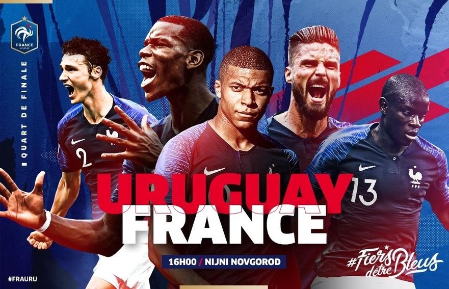 FRANCE-URUGUAY LE 6 JUILLET 2018