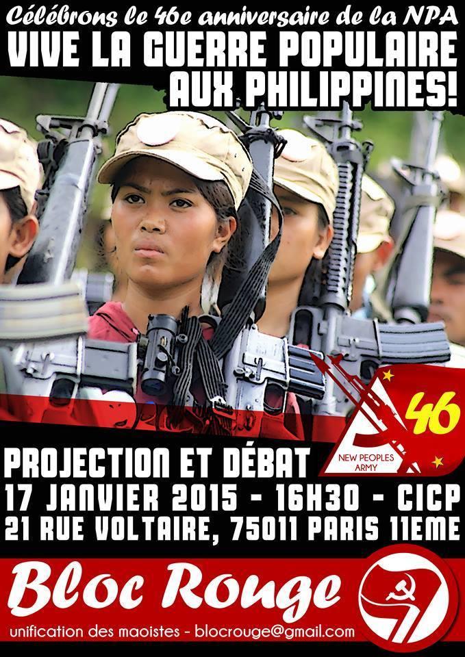 Histoire de déconnecter un peu de Charlie : 46e anniversaire de la Nouvelle Armée du Peuple et de la Guerre populaire aux Phlippines