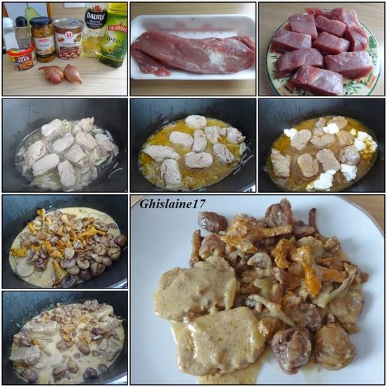 Filet mignon de porc aux girolles et marrons