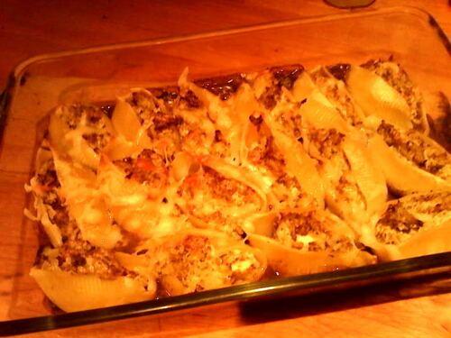 Conchiglionis au brocolis et sa sauce crémeuse aux champignons