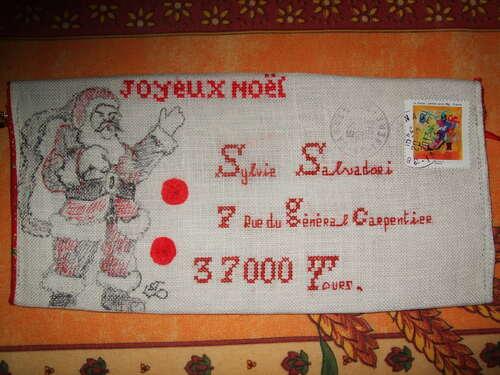Enveloppes de Noël reçues