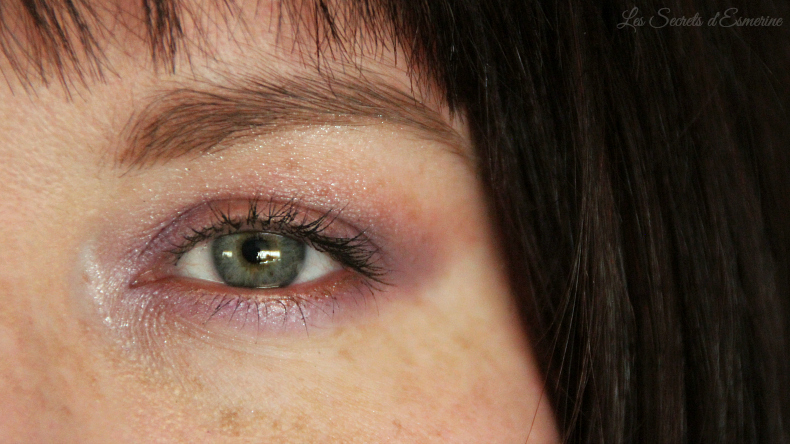 maquillage - make up - violet - lilas - mauve - orange - melon