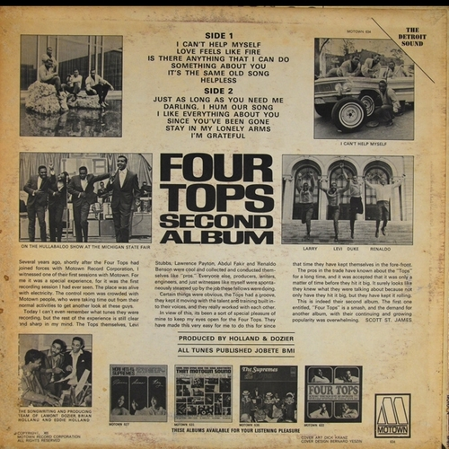 "The Four Tops : Album "" Second Album "" Motown Records MS 634 [ US ]"