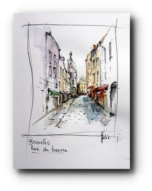 rue du beurre, Bruxelles
