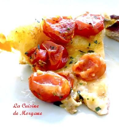 Tatin de tomates cerises et mozzarella