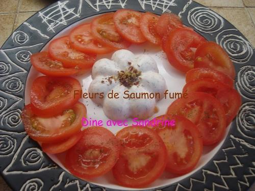 Des Fleurs de Saumon fumé