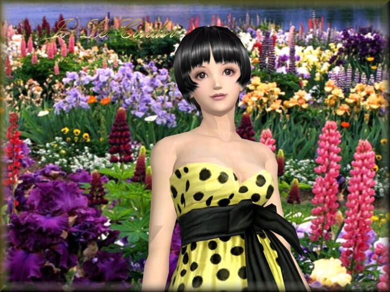 Nouvelle série femme fleur .....En 3d