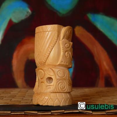 """Blog de usulebis : Usulebis ,Artisan créateur de bijoux polynésiens , contact : usulebis@hotmail.fr, Sculpture Tiki """"style Marquisien"""" en Buis N°2"""