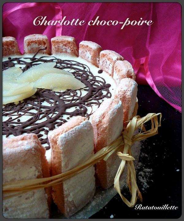Charlotte poire-chocolat