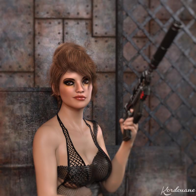 Création : La badgirl en portrait (DazStudio)