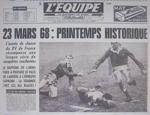 Tournoi des Cinq Nations de rugby 1968.