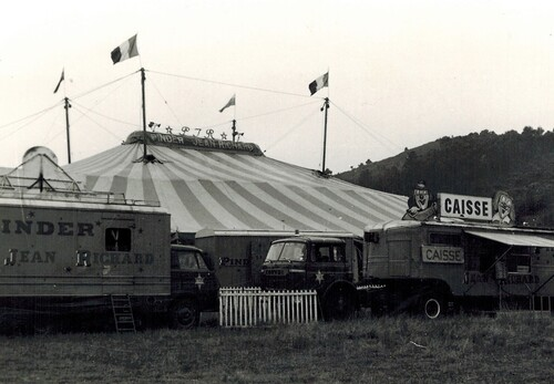 le cirque Pinder -Jean Richard en 1979