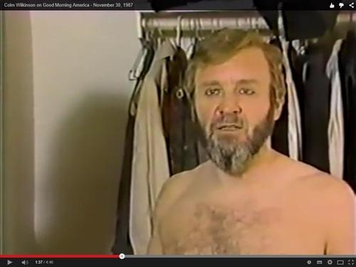 Vidéo : la Dernière de Colm à Broadway dans les Miz 1987