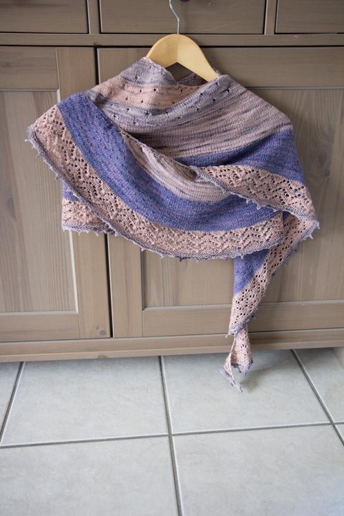 Mylène - Tricot : Châle 3 Color Cashmere Shawl