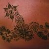 Maroc Casablanca Tatouage de l'épaule au henné