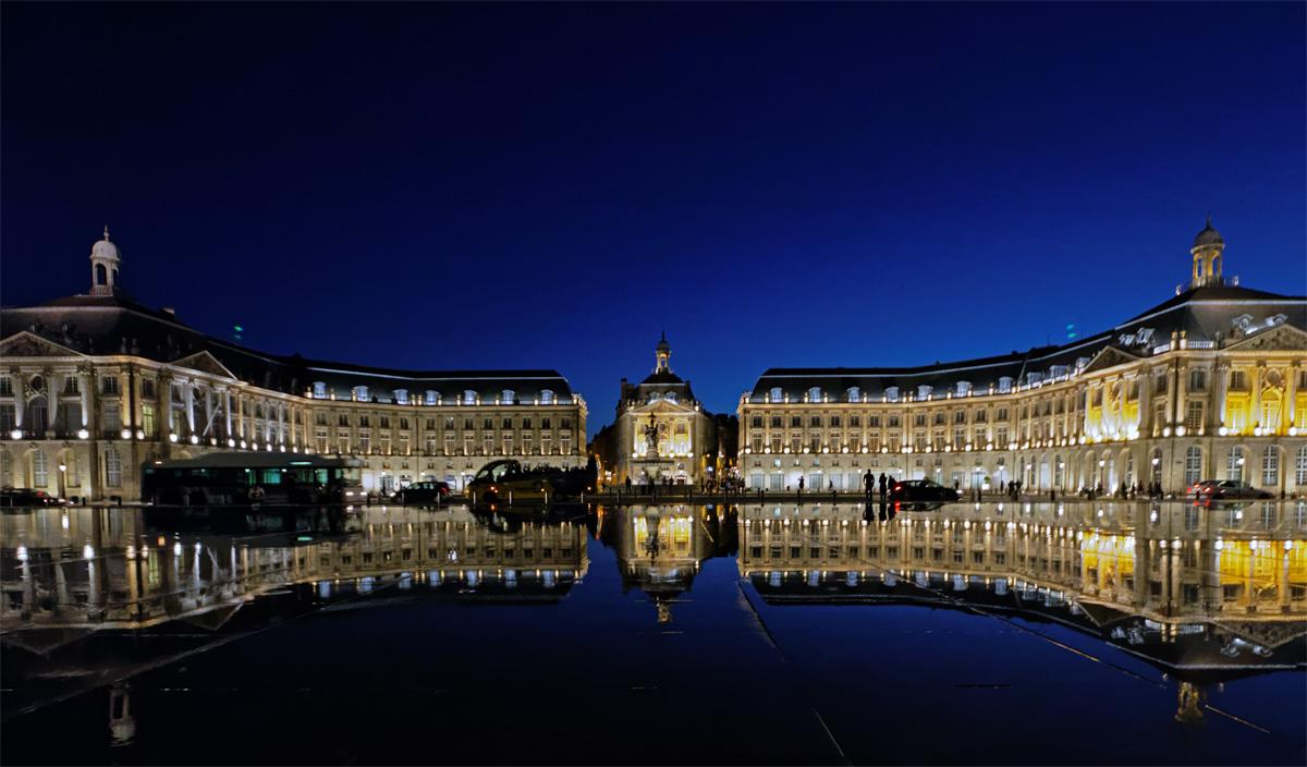 Bordeaux Double vue a l'heure bleue