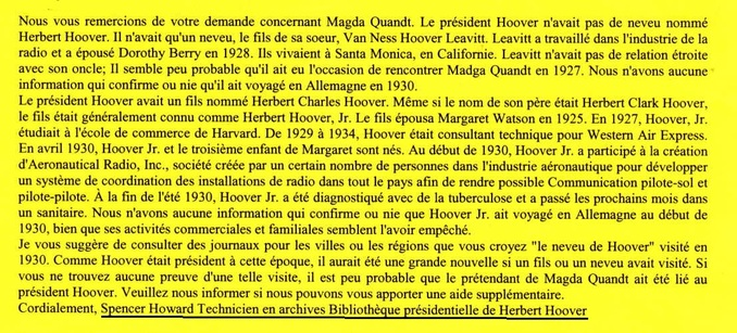Magda Goebbels... Un document important des Etats-Unis !