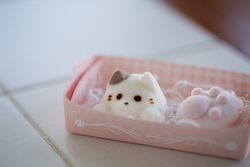 Des chats en marshmallow pour vos boissons