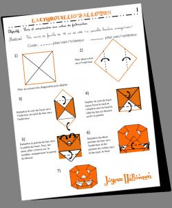 Rallye-lien n°6 : Un origami pour Halloween