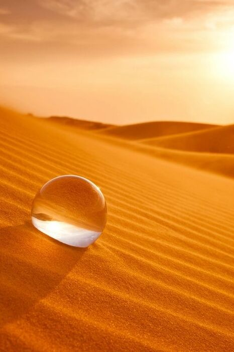 Desert-Goutte-eau