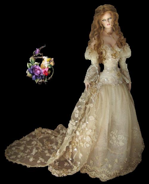 poupée robe beige