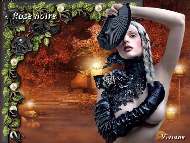 La rose noire défi de Marjolaine