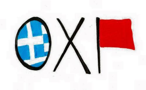 Billet Rouge-OXI !   NON !  -par RUEL