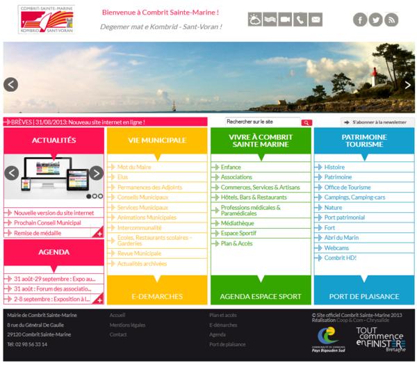 Municipalité : Nouvelle version du site internet