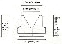 Gilet manches longues schéma1