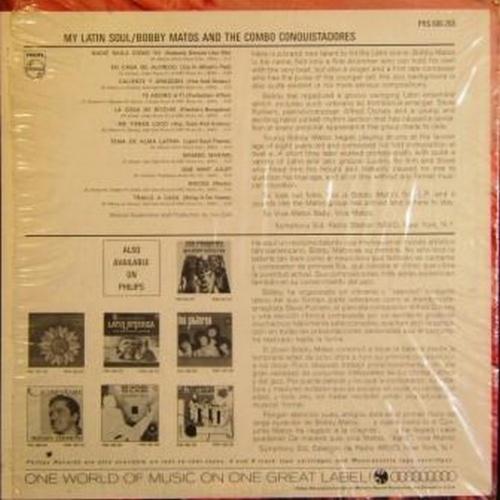 "Bobby Matos & The Combo Conquistadores : Album "" My Latin Soul "" Philips Records PHS 600-268 [ US ]"
