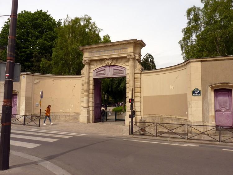 Entrée du square Villemin