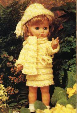 Tenue jaune citron pour poupées