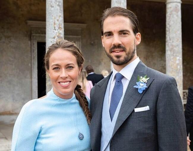 les deux derniers enfants de Constantin et Anne-Marie de Grèce