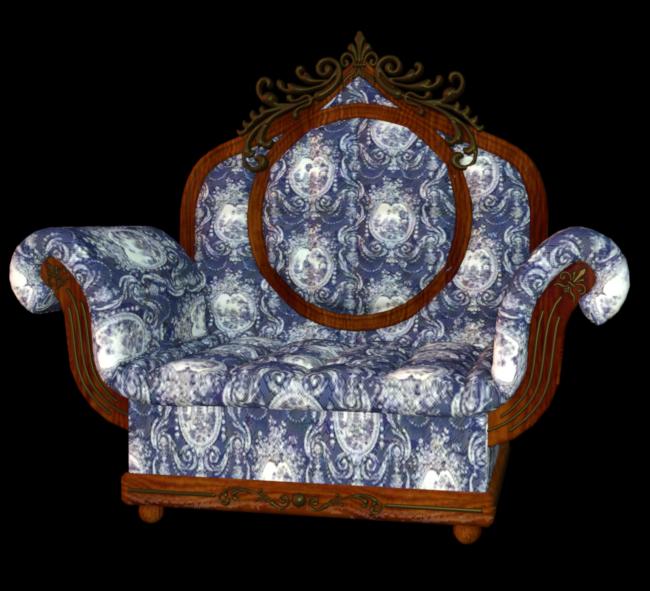 Tube de fauteuil Louis XV (render-image)